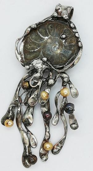 amonit i naturalne perły