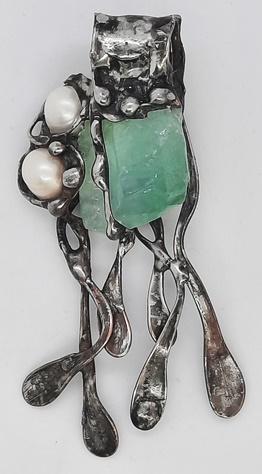 kalcyt zielony i perły