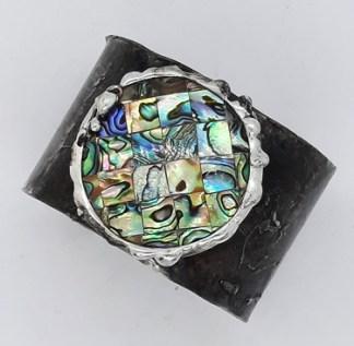 bransoletka z muszlą abalone