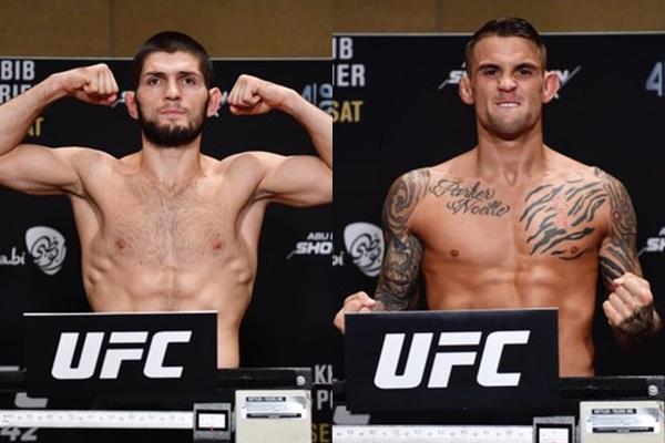 UFC 242 Wyniki ważenia