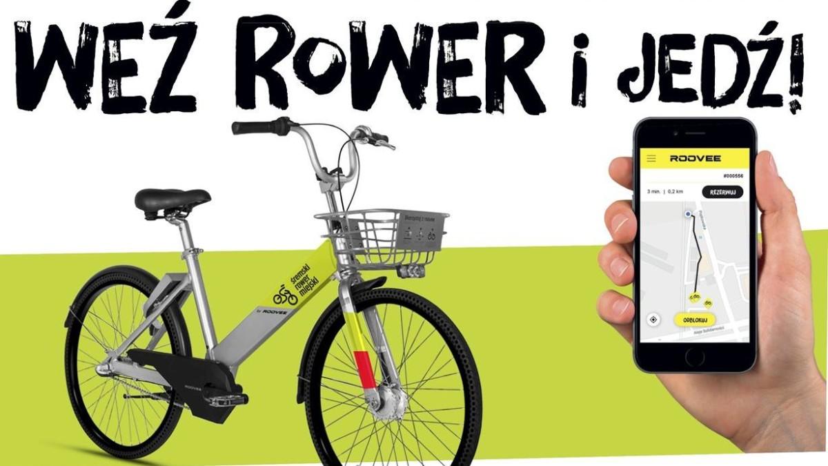 W Śremie wypożyczymy rower za pomocą smartfona - szybko i łatwo