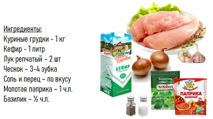 صدر الدجاج خبز في كفير
