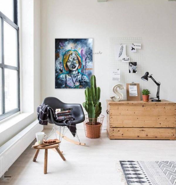 Oeuvre elektra - natacha perez- artiste peintre en alsace- bas rhin