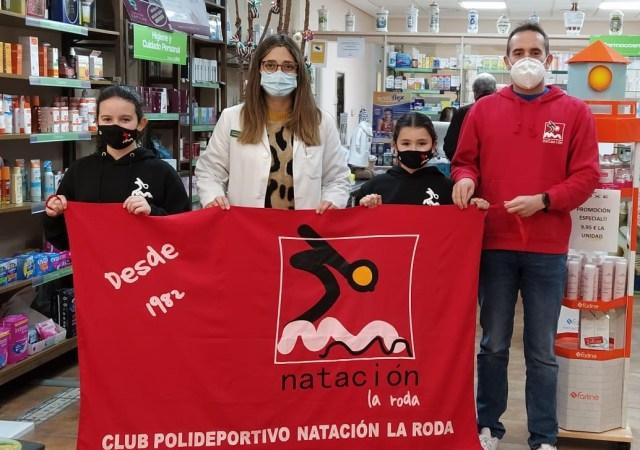 Farmacia Mercedes Escribano cuidará del Club Natación La Roda