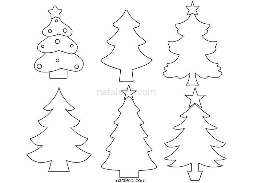 Disegni Da Colorare Natale Alberi.Disegni Da Colorare Albero Di Natale Per Bambini
