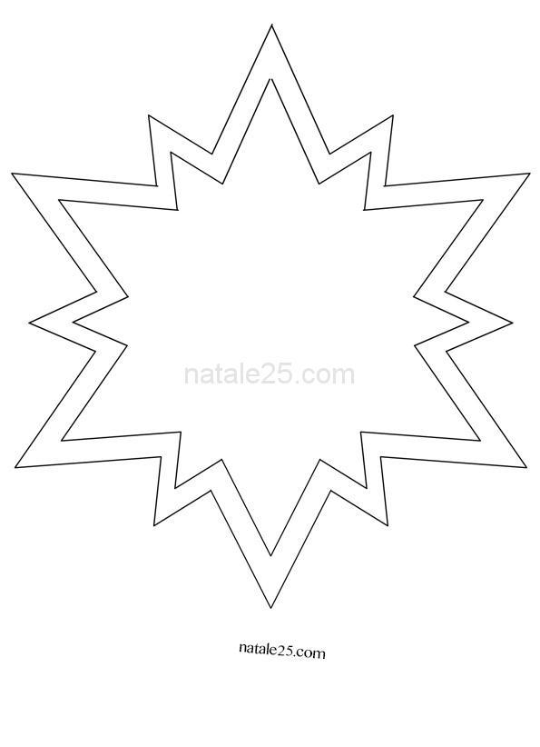 Sagoma stella per lavoretti di Natale  Natale 25