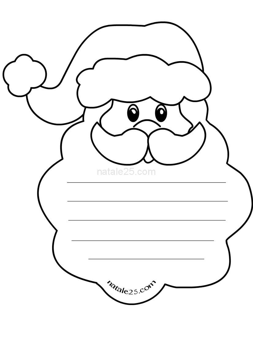 Letterine Di Natale Per Bambini Da Colorare