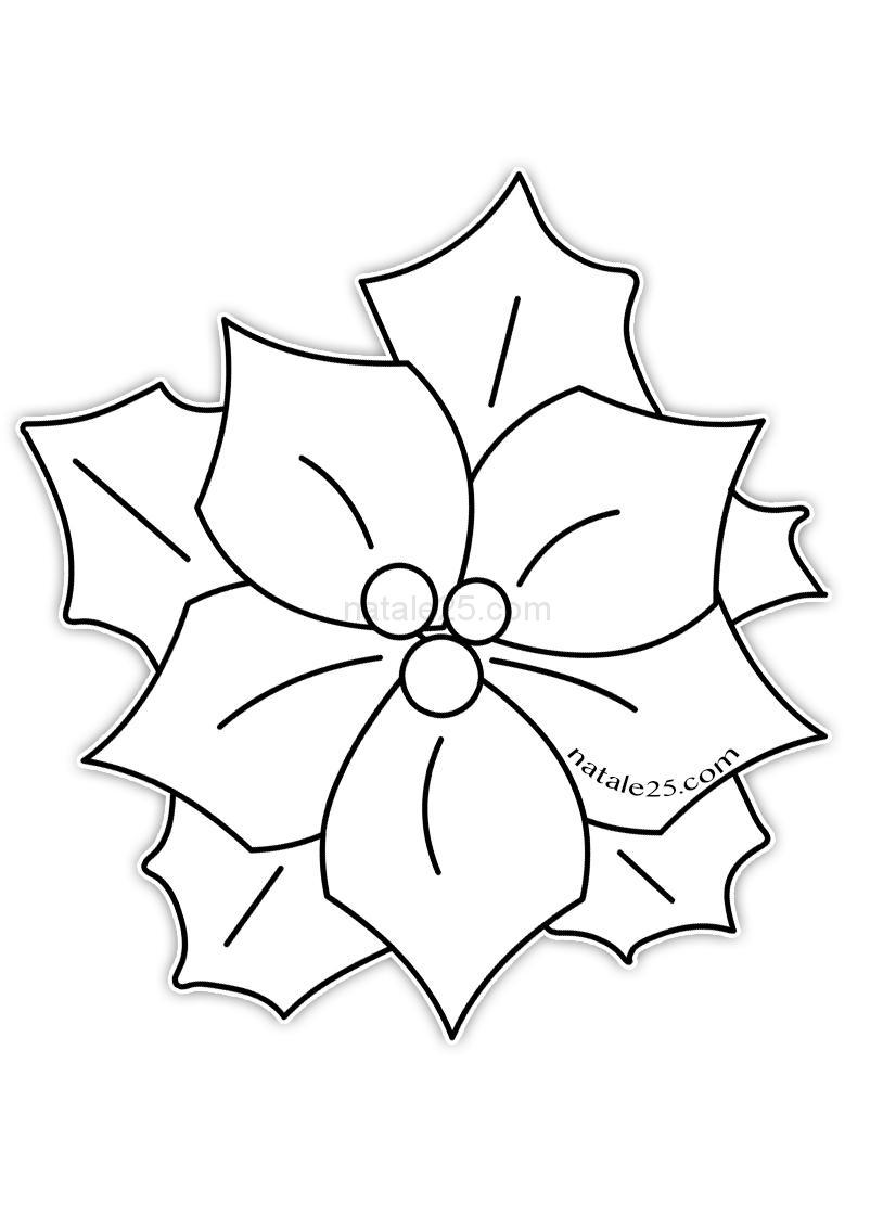 Lavoretti di natale le sagome utili da stampare mamma e. Disegno Stella Di Natale Da Colorare Natale 25