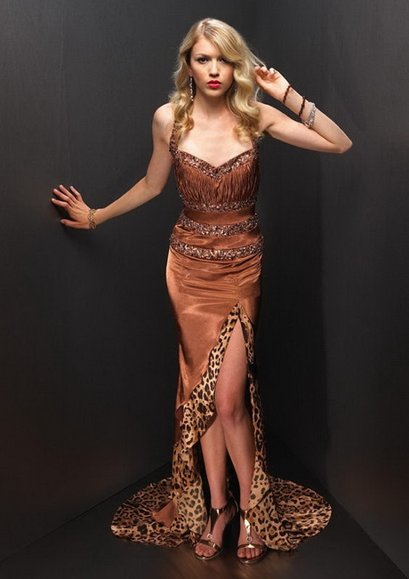 Animal print evening dresses
