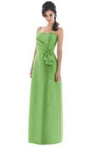 Chiffon Dresses: Bridesmaid Dresses Apple Green