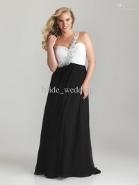 Black and white plus size dresses