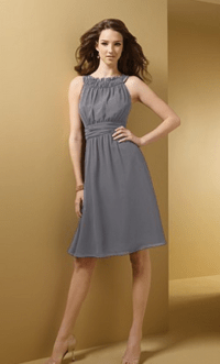 Charcoal grey bridesmaid dresses