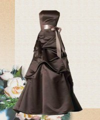 Chocolate brown bridesmaid dresses