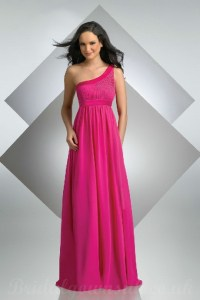 Fuschia pink bridesmaid dresses