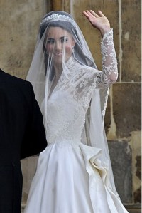 Irish lace wedding dress