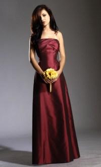 Bridesmaid Dresses Maroon