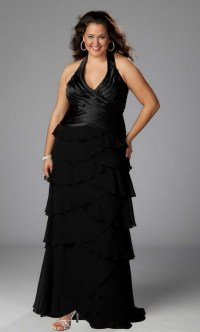 Plus size black bridesmaid dresses