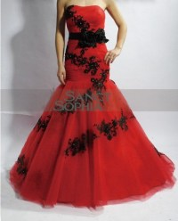 Wedding Dresses With Black And Red 2016