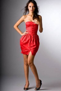Red party dresses for juniors