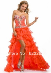 Short orange homecoming dresses