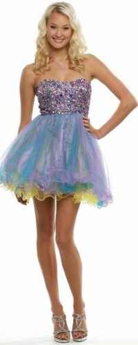 Prom Dresses Poofy Short - Holiday Dresses