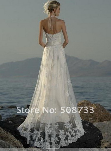 Wedding dresses beach ceremony