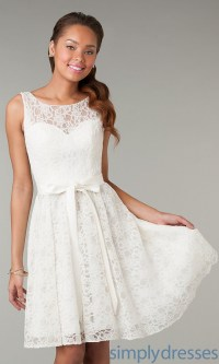 White lace short dress