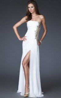 White winter formal dresses