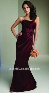 Wine Colored Bridesmaid Dresses | Dress Ideas