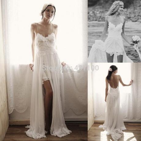 Short bohemian wedding dress