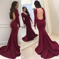 Long sleeve prom dresses 2018