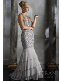 Silver special occasion dresses