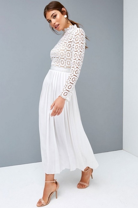 All white midi dress