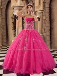 Hot pink quince dresses