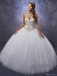 Quinceanera white and gold dresses