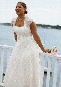 flatering clothe on a heavy set woman pictures wedding ...