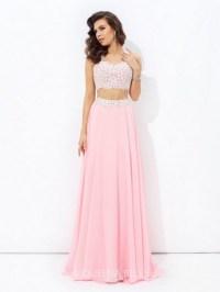 2017 2 piece prom dresses