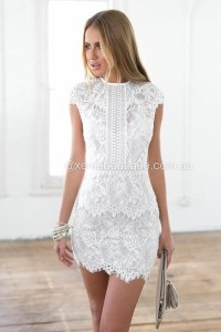 All white cocktail dress