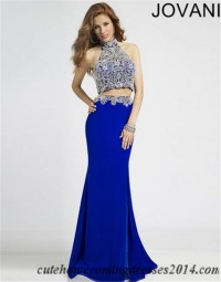 Long 2 piece prom dress