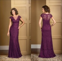 Plum dresses for mother of the bride