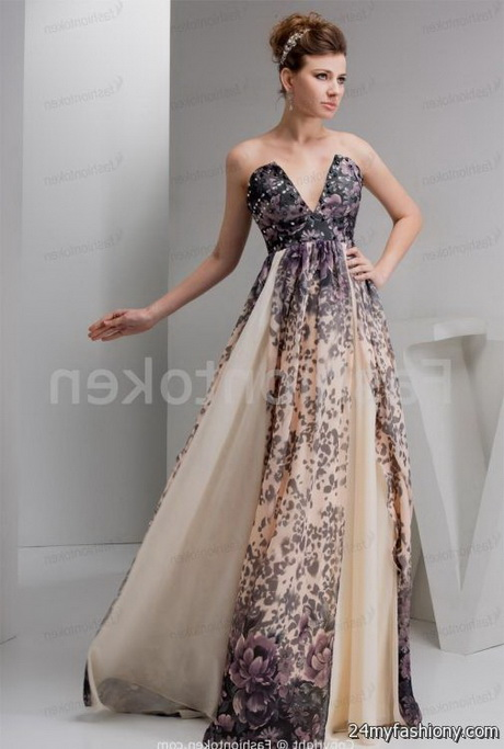 Evening gowns for wedding guests
