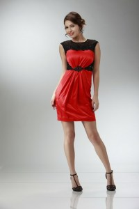 Red And Black Short Formal Dresses - Holiday Dresses