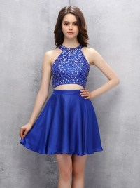 2 piece homecoming dresses short
