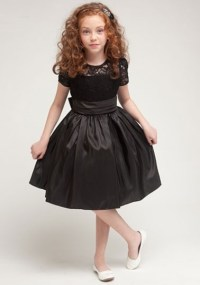 Girls black party dress