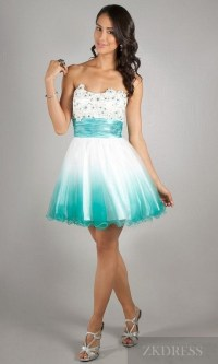 Homecoming dresses teal