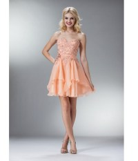 Peach homecoming dresses