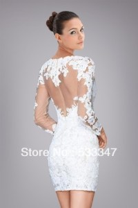 Short white lace homecoming dress