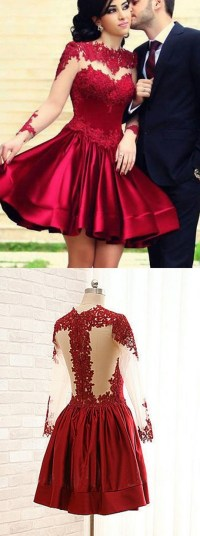 Sleeved homecoming dresses