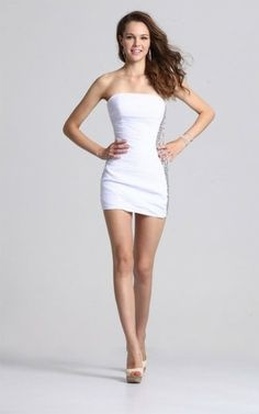 White fitted homecoming dress
