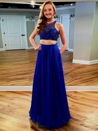 2 piece prom dresses long